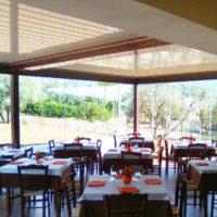 Pergola bioclimatica per ristorante